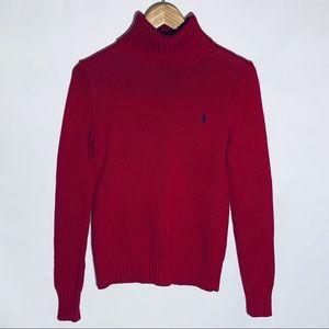 Ralph Lauren Sport cherry red turtleneck sweater M